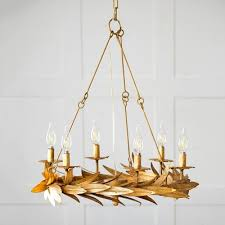 gold candle style ceiling chandelier