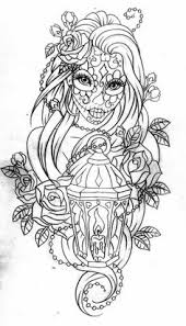 day of the dead coloring page coloring book pagesskull coloring pagesprintable