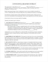 Consulting Agreement Example Contract Templates Free Sample Template ...