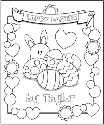 Freebie Personalized Easter Coloring Pages From Frecklebox