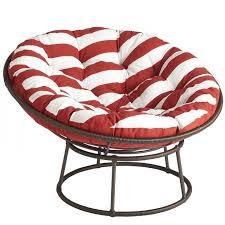 ratan papasan chair with cozy stripped red papasan chair cushion for home  furniture ideas