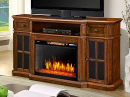 sinclair electric fireplace tv stand in aged cherry 259 18 48 intended for entertainment centers with