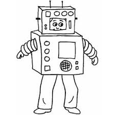 halloween costumes coloring pages robot costume coloring page