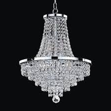 glow lighting vista 16 in crystal chandelier