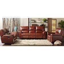 cambridge charleston power brown double reclining leather sofa