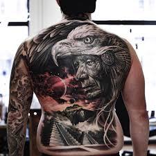 потрясающий композиционный тату реализм Martin Sjöberg