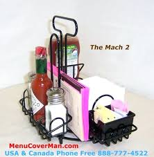 condiment caddy for tables table restaurant timber holders holder with integral napkin use condiment caddy
