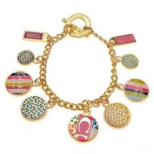 Coach Fashion Logo Gold Bracelets CWR