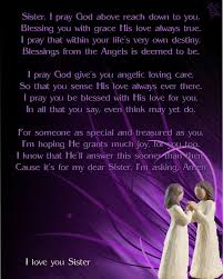 Prayer For My Sister Quotes Adorable MySisterprayer Sister Prayer Religion Pinterest Sweet