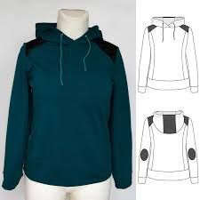 Sweatshirt Pattern Unique Women's Hoodie Sewing Pattern Contrasting Inserts Sweatshirt Pattern