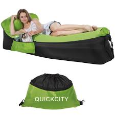 Quickcity Inflatable Couch Hammock Inflatable Lounger Air Sofa