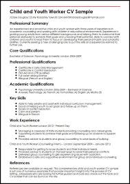 Child And Youth Worker Cv Sample Myperfectcv