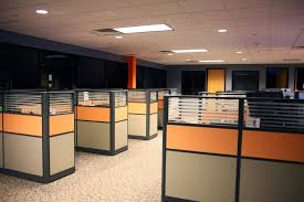 home office cubicle. Modern Office Cubicle Layout Design : Wonderful Floor With Fancy Gray And Orange Home S