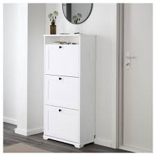 Ikea Shoe Drawers Brusali Shoe Cabinet With 3 Compartments White 61x130 Cm Ikea