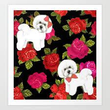 bichon frise gift pink red fl bichon gift pet friendly dog breed