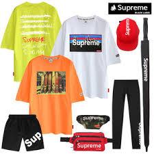 supreme genuine short sleeve t shirt shorts plain tee hat pants