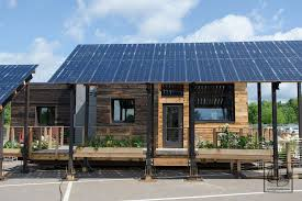 solar powered tiny house. Beautiful Solar Solar Powered Tiny House Is 971sqft Of Energy Efficiency And O