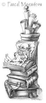 fantasy wizard books coloring pages colouri ng detailed advanced printable kleuren voor volwenen Сказочные иллюстрации pascal moguerou работ
