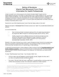 Fetal Kick Chart Pdf Fillable Online Aphp Notice Of Revisions Alberta Fetal