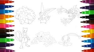 Legendary Pokemon Pokemon Coloring Pages Youtube