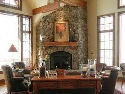 amazing of stone fireplace designs stone corner fireplace home design