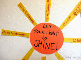 Let Your Light Shine Lds Primary Little Family Fun Fhe Be A Good Example Sunday School