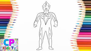 ultraman cosmos coloring pages for kids how to color ultraman coloring pages fun for kids