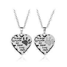 no longer by my side but forever in my heart cat dog memory pendant necklace new