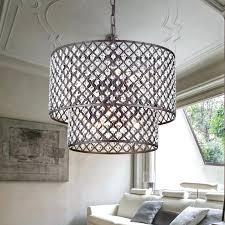 chandeliers main regarding contemporary house chrome drum chandelier plan glass lace