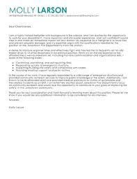 Sample Cover Letter For A Firefighter Sampleresume Resumetips