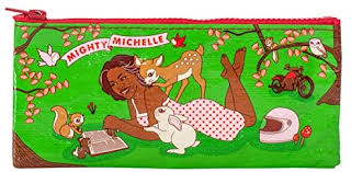 Blue Q Pencil Case, Mighty Michelle - First Lady of ... - Amazon.com