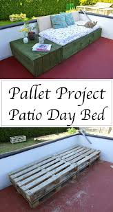 Outdoor pallet furniture Diy Palletbased Day Bed For Your Patio Homelovr 15 Best Diy Outdoor Pallet Furniture Ideas Homelovr