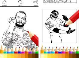 studioxo coloring book game wwe superstar appsdrawing