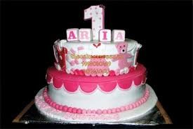 Happy First Birthday Cake For Baby Girls In Noida Buy Cakes For 1st