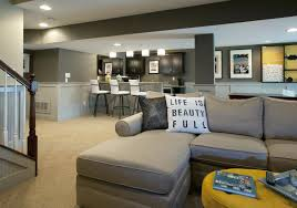 basement color ideas. Basement Colors Model Finished Love The Gray Walls Not Sure Of Color Ideas Benjamin Moore: O