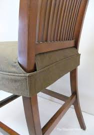 chair seat covers. Seat Cover For Dining Chair. Clean, Simple Wrap Around Design That Fits Snugly Legs With Velcro. This Would Be To Make By Altering DIY: Chair Covers Pinterest