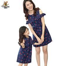 <b>Family</b> Matching Outfits Fashion <b>Family Set Cotton</b> Dress Mother ...