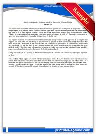 Medical Record Release Letter Free Printable Authorization To Release Medical Records Cover