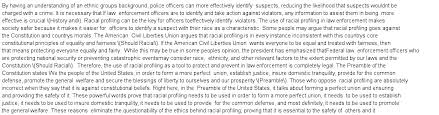 the pros of racial profiling in law enforcement essay  essay preview