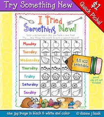 Try New Food Chart Help Encourage Kids To Try New Foods With This Fun Printable