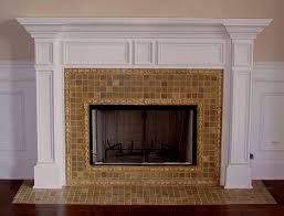 Tiles, Porcelain Tile Fireplace Ideas Tile Fireplace Surround Design  Pictures Brown Color With Mini Square