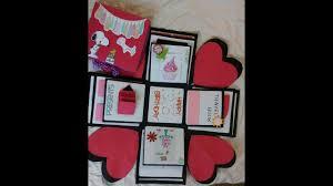 explosion box gift for boyfriend easy handmade gifts gift ideas