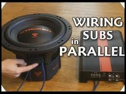 subwoofer wiring one 2ohm dual voice coil subwoofer in parallel how to wire dvc subwoofers in parallel dual 2 ohm voice coil sub wiring