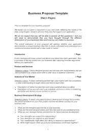 Letter Of Intent Sample Business Proposal Template Doc