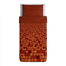 ikea smorboll orange twin duvet cover pillowcase set smÖrboll dots modern