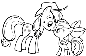 My Little Pony Looking At Each Other Coloring Page Coloring