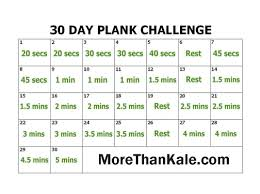 Innovative 30 Day Plank Challenge Printable Calendar Abs Core