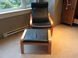 ikea poang chair white leather ikea black leather recliner chair