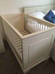 cream cot cot bed by kidsmill
