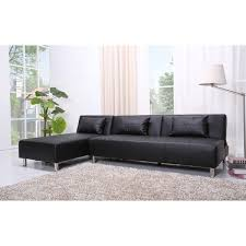convertible sectional sofa bed. Interesting Sectional Atlanta Black Faux Leather Convertible Sectional Sofa Bed For